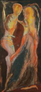 Bożena Kuzio Zaślubiny jedwab malowany wystawa Zadośćuczynienie