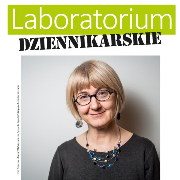 Bożena Dudko, prowadząca Laboratorium Dziennikarskie w SCEK