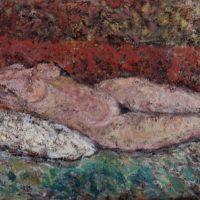Akt, ok. 1972-73, olej, płótno, 68×107 cm