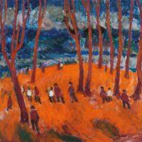 Las, 1970, olej, płótno, 65×73 cm