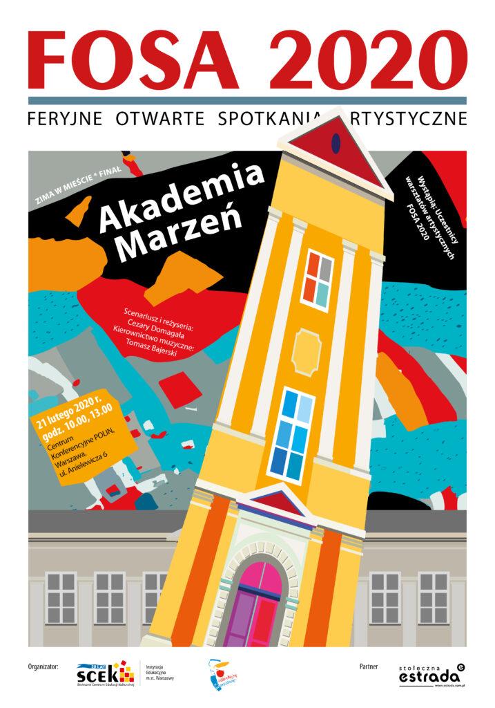 plakat - Akademia Marzeń finał FOSA 2020