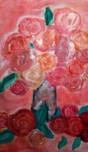 Karina Sosnowska klasa 5 Renoir-Róże w wazonie