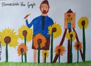 Wiktoria Drozd kl V Słoneczniki Van Gogh