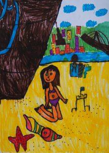 Ada Bącal, 7 lat, Szkoła Podstawowa nr 300, Odpoczynek nad Wisłą.JPG