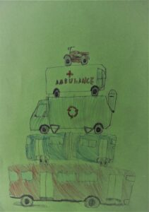 Antoni Blacha, 9 lat, Prywatna Szkoła Podstawowa nr 114, Pojazdy w mieście, Piramida dźwięku.J