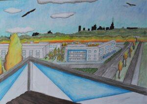 Maja Pociejewska, 10 lat, Szkoła Podstawowa nr 212, Widok z mojego balkonu.