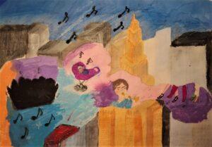 Aniela Grzybowska, 10 lat, Szkoła Podstawowa nr 50 im. Królowej Jadwigi, Mural