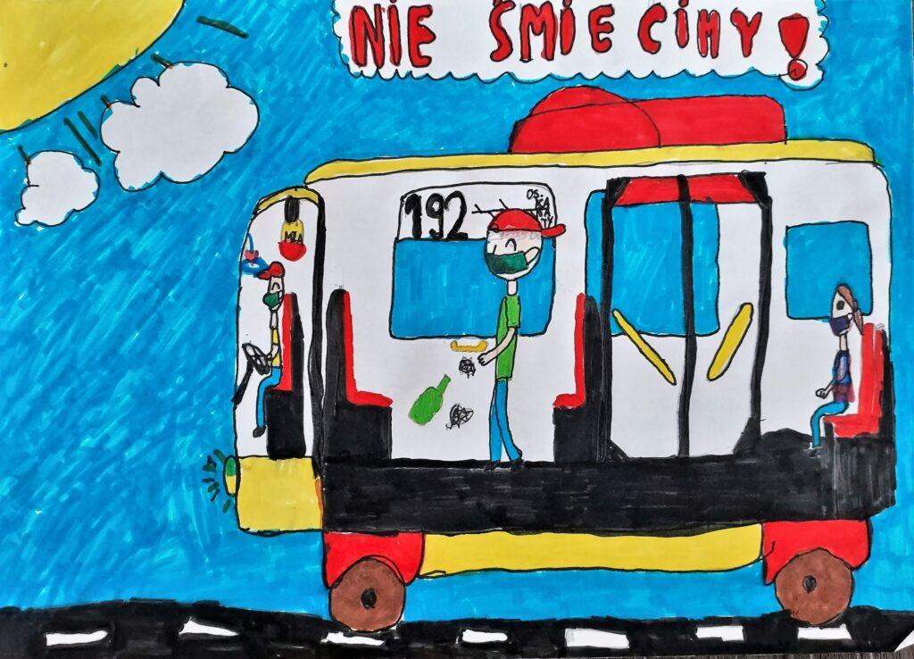Barbara Rosa, 9 lat, Ekologiczny autobus Szkoła Podstawowa nr 336