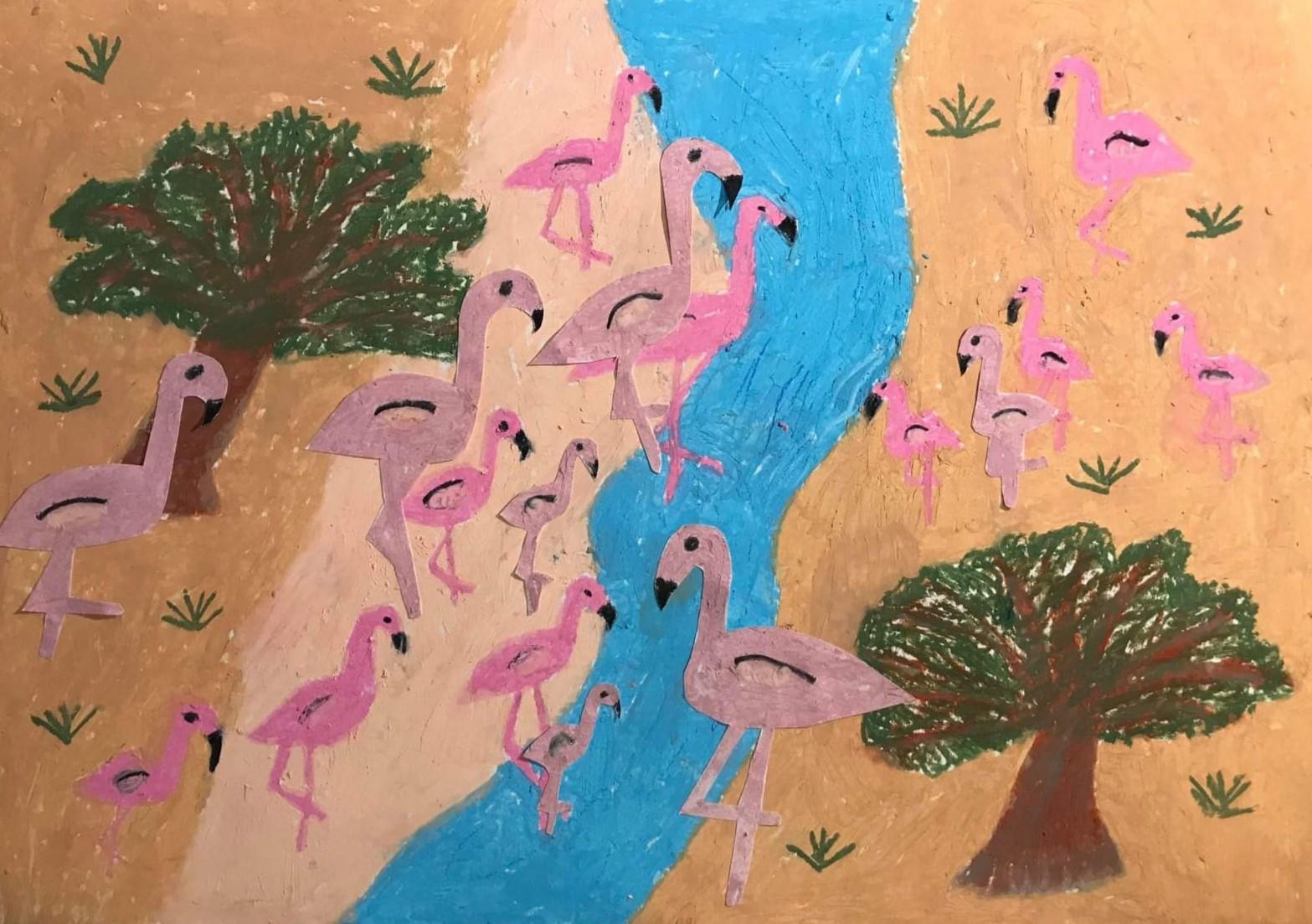 Liliana Szpak, 11 lat, Szkoła Podstawowa nr 225, flamingi