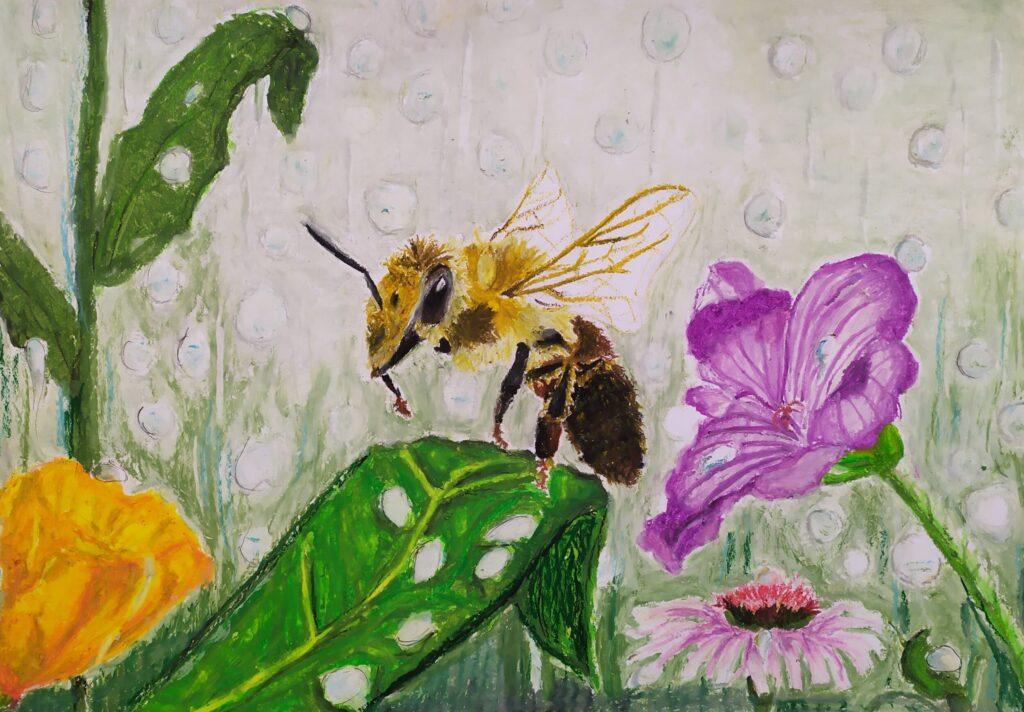 Antonina Gryczka, 12 lat, Pszczoła w deszczu, Białołęcki Ośrodek Kultury