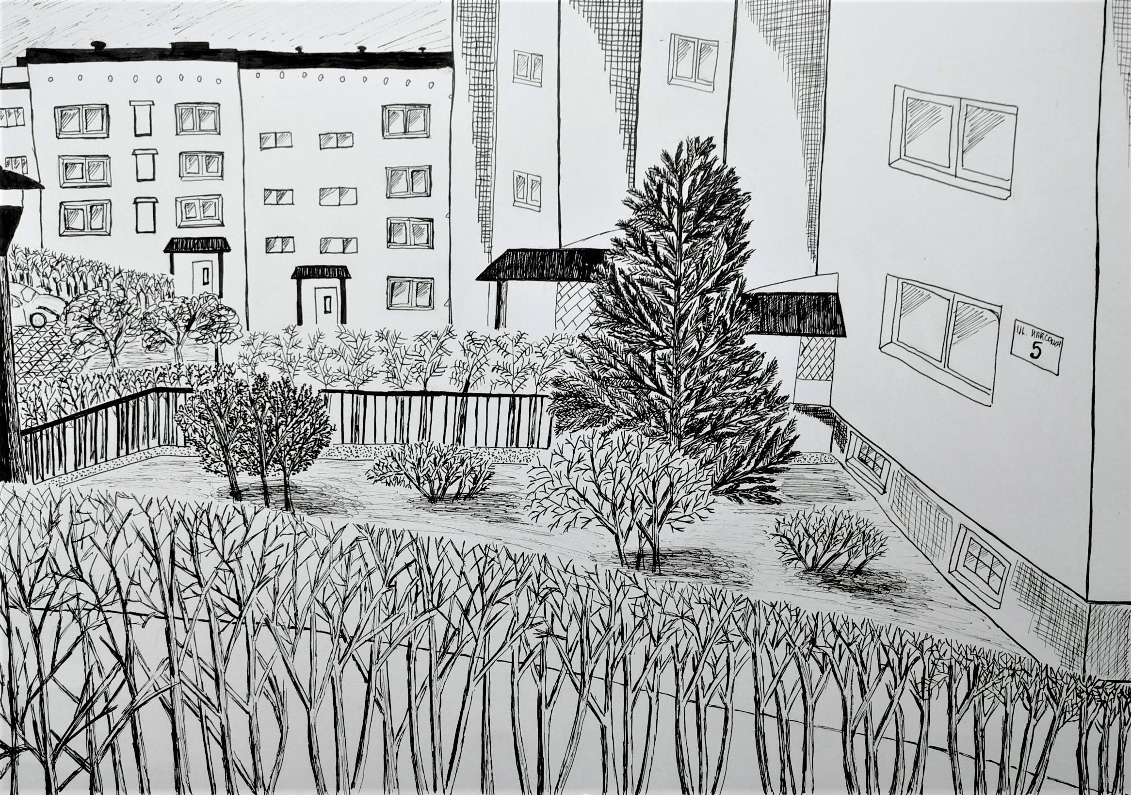 Filip Ścibisz, 13 lat, Szkoła Podstawowa nr 300, Widok-z-okna-1