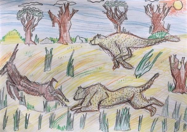 Szymon Pilich, 10 lat, Zwierzęta w ruchu, polowanie Szkoła Podstawowa nr 260