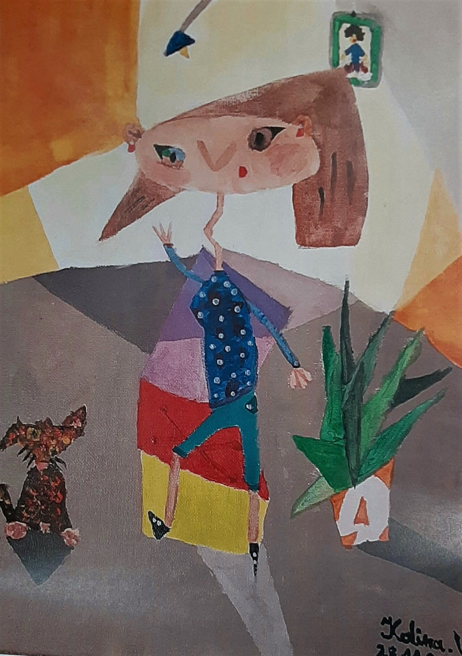 Kalina Woźniak, 12 lat, Szkoła Podstawowa nr 96, Domina Abstract