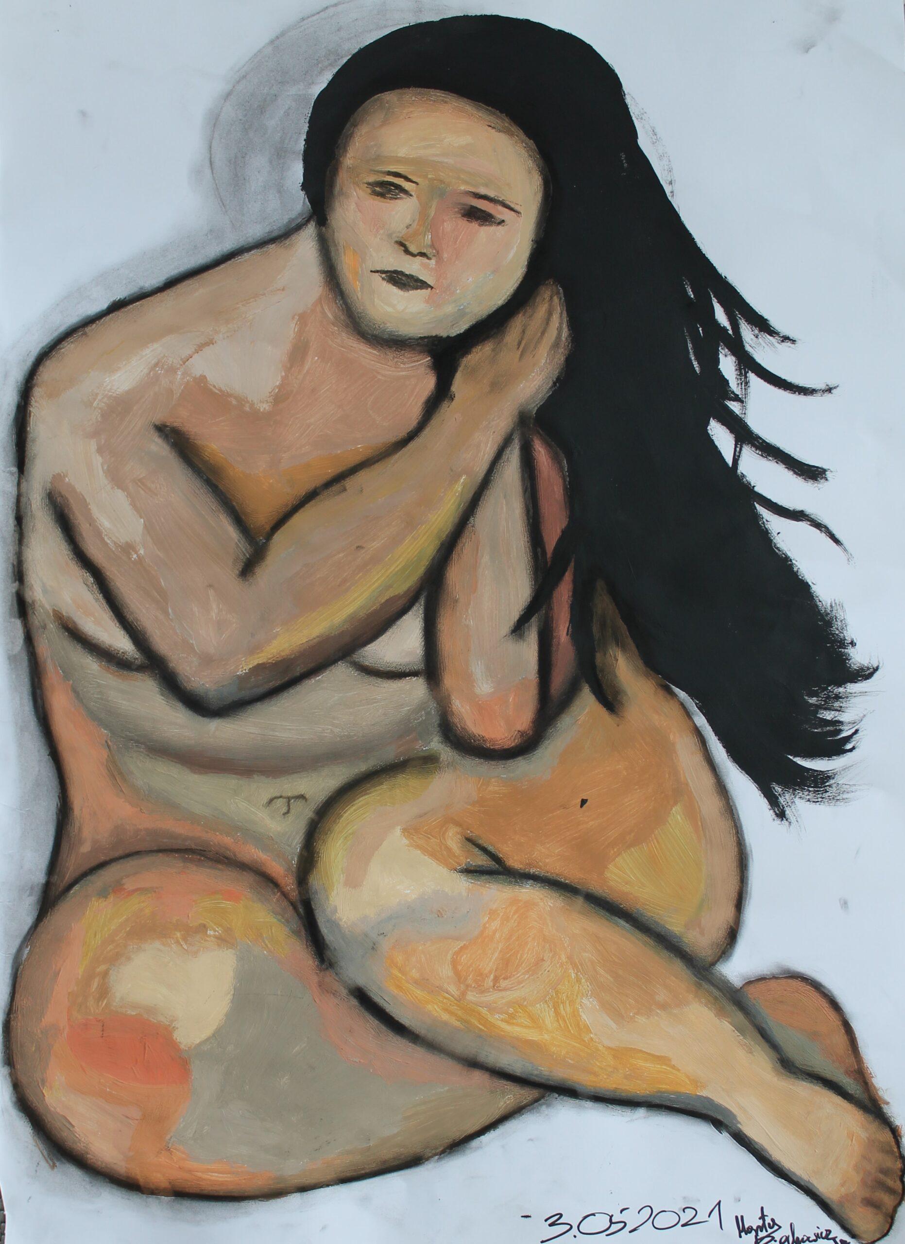 Marta Piechowicz, 12 lat, Szkoła Podstawowa nr 257, kopia-obrazu-B.-Baumane-scaled