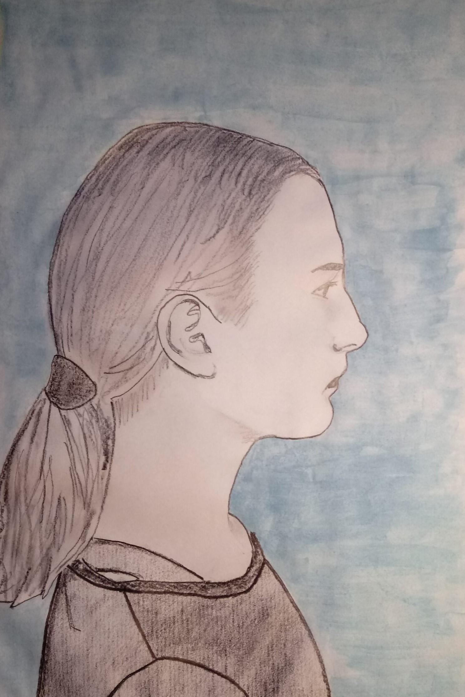 6b. Nina Salwa, 13 lat, Szkoła Podstawowa nr 203, Autoportret-scaled