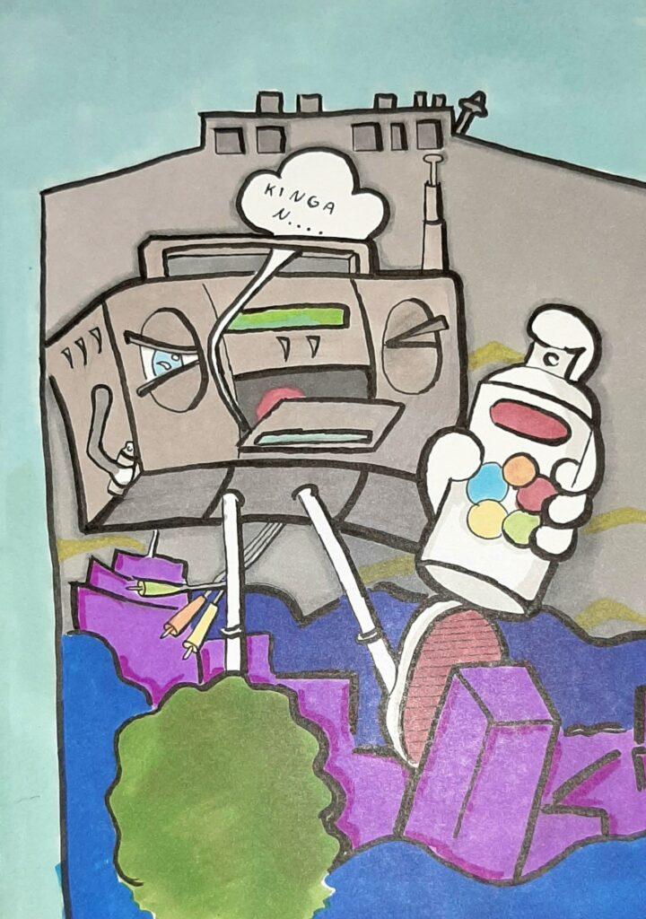 8b. Kinga Nalej, 11 lat, Grafitti Szkoła Podstawowa nr 50,