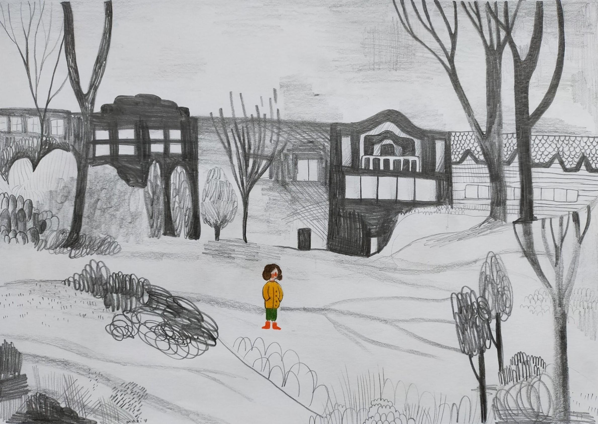 8b. Maria Nikoleishvili, 13 lat, Park jesienią, Szkoła Podstawowa nr 373
